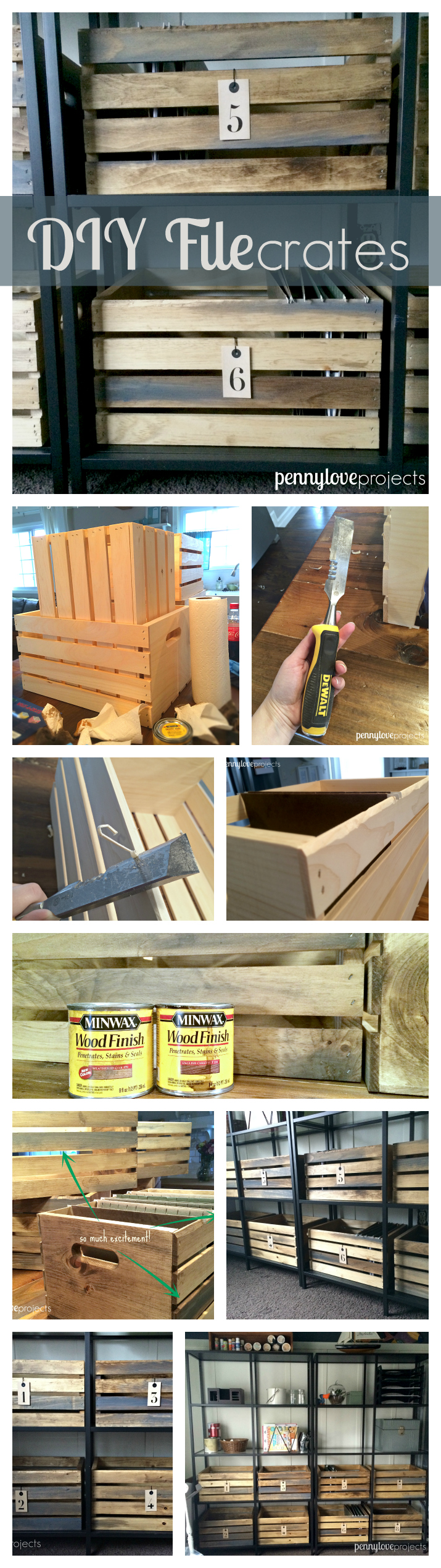 Home Office Makeover Series Part 5: DIY File Crates