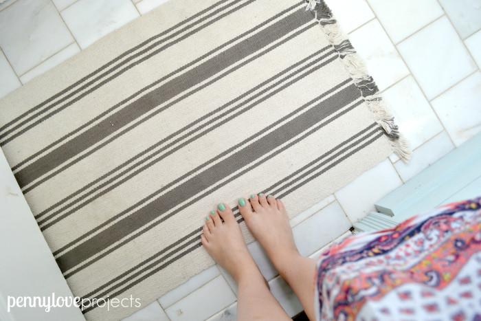 e projects powder room Ikea rug
