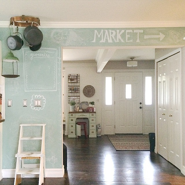 15 Whimsical Kitchen Designs With Chalkboard Wall: Chalkboard Kitchen Wall