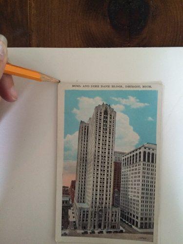 vintage postcard diy trace