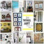 DIY Vintage Postcard Gallery (& how to cut matte frames) (&& Blog Hop &&& a Link Party)