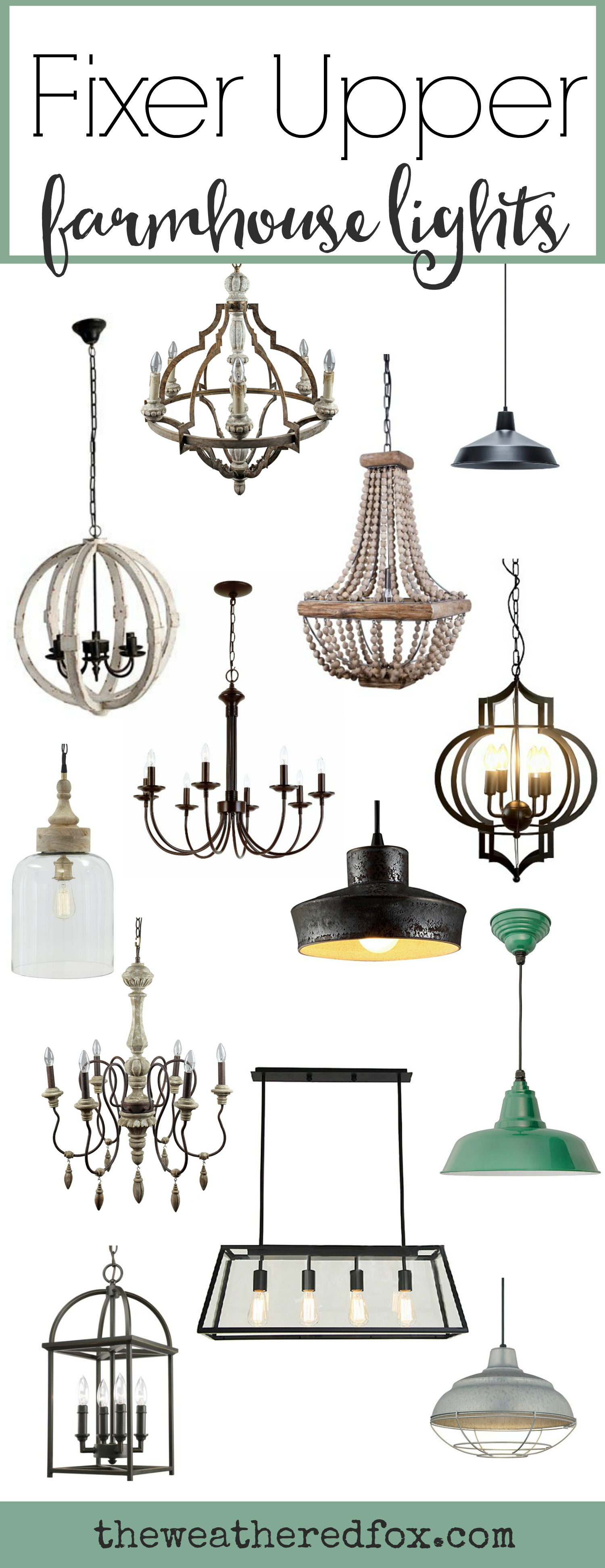 Fixer Upper Lighting for Your Home - The Weathered Fox