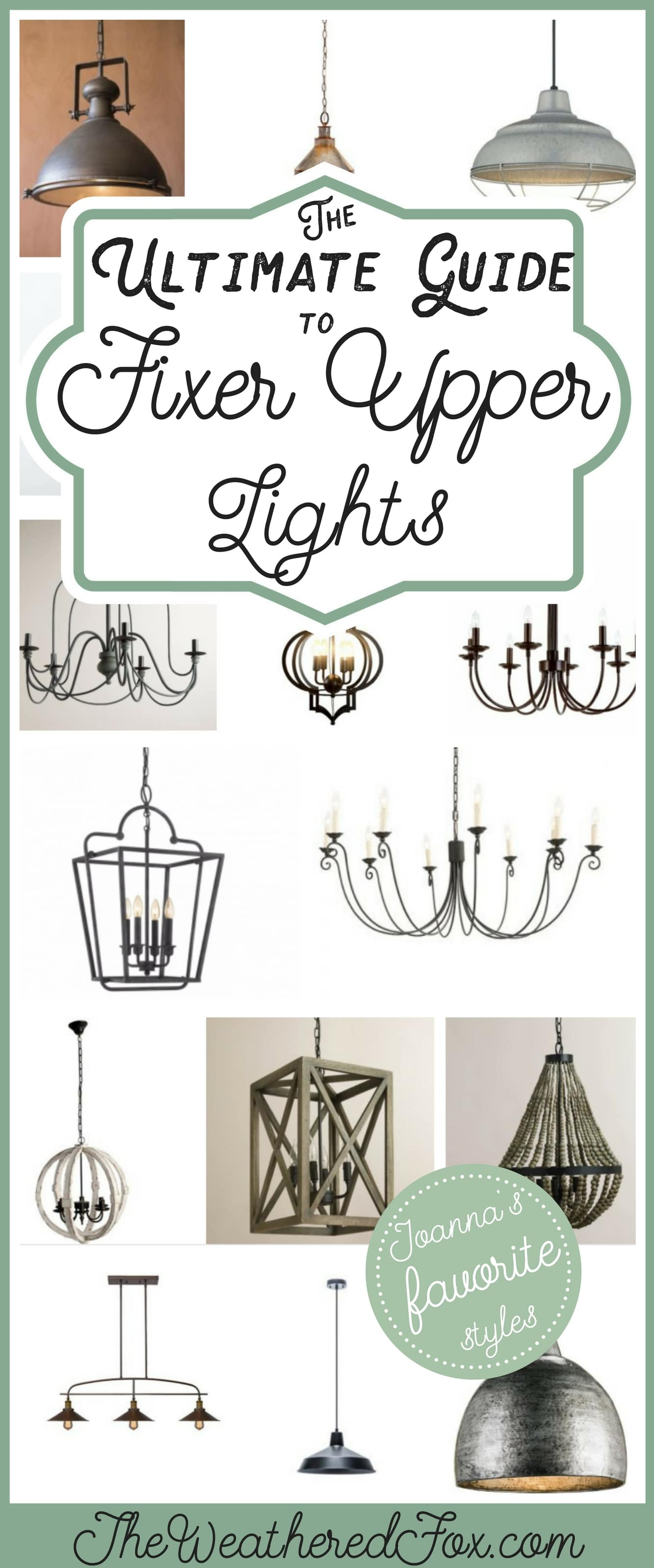 Fixer Upper Lighting For Your Home The Weathered Fox - Joanna gaines kitchen light fixtures