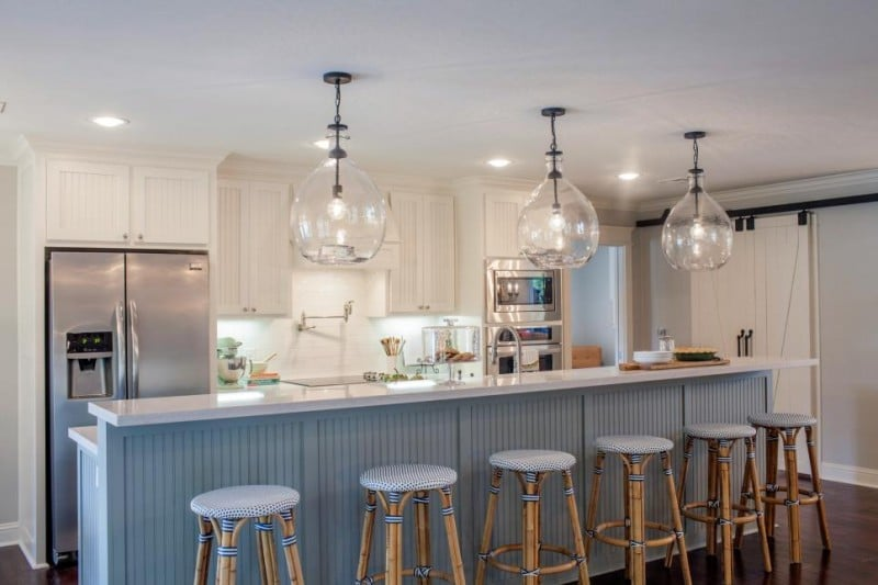 Gl Light Fixtures Are A Great Way To Add Little Drama Room Especially In Small Es Adding Pendants Kitchen For Example Can