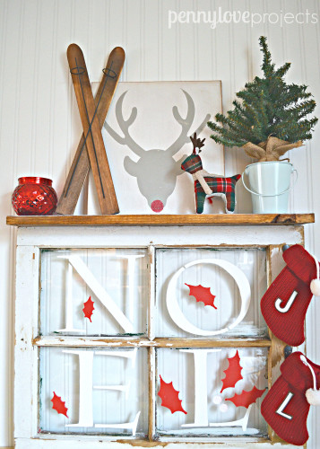 DIY Christmas Window Art