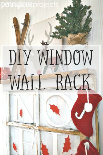 DIY Window Wall Rack from pennyloveprojects.com