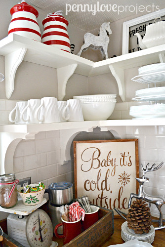 Holiday Home Tour Open Shelving