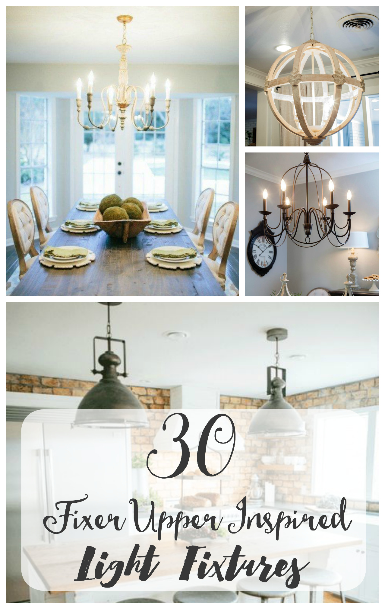 30 Fixer Upper inspired light fixtures