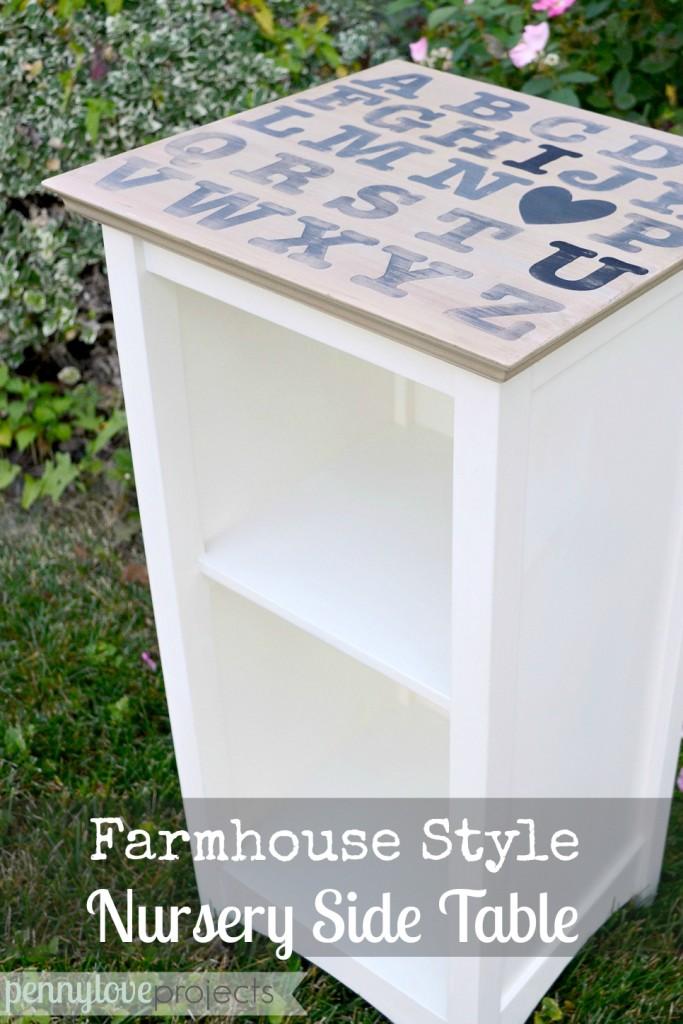 Farmhouse Style Nursery Nightstand