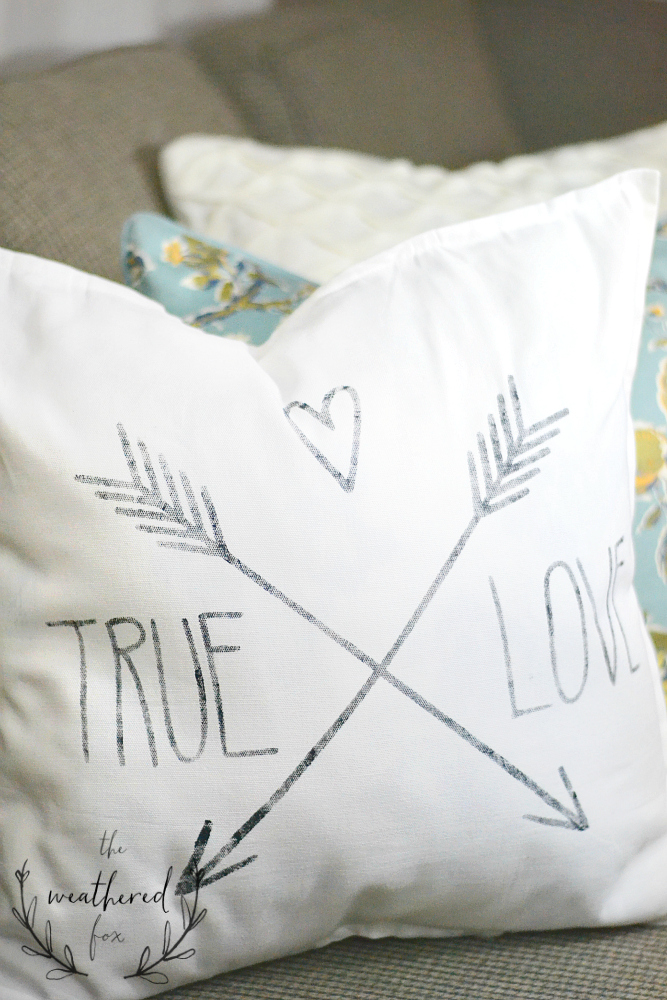 stencil pillow diy: create and share challenge - the weathered fox Diy Pillow Decor