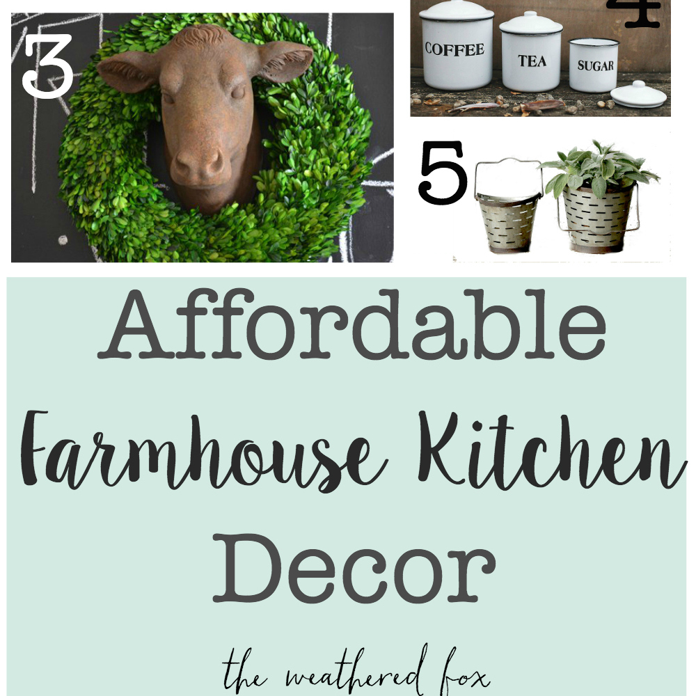 farmhouse kitchen decor square
