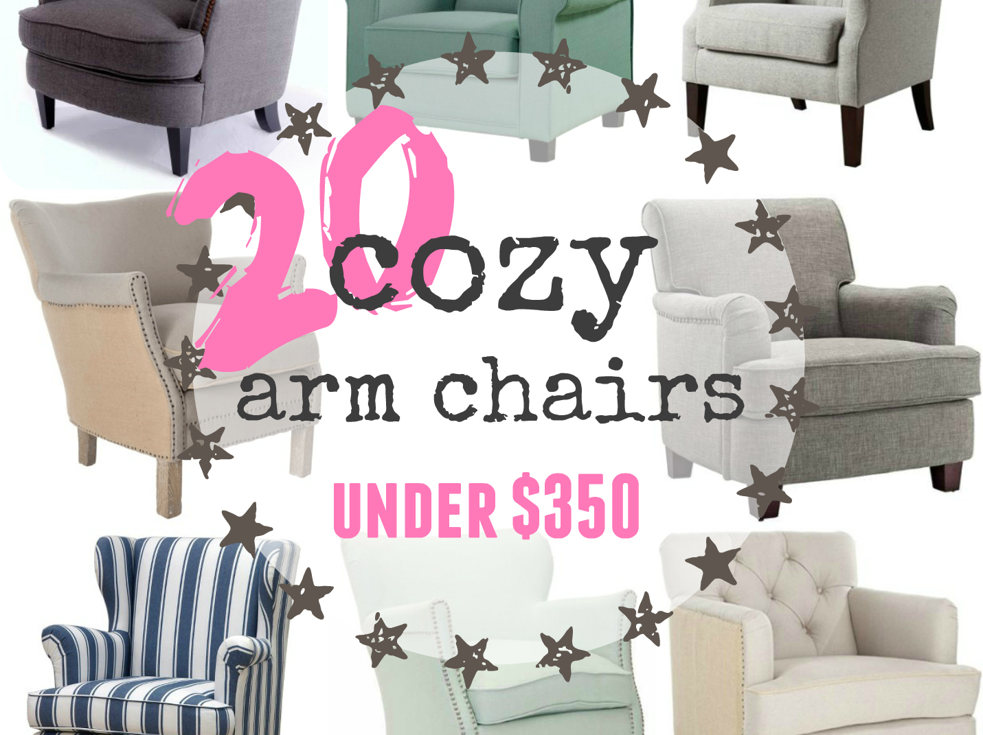 20 cozy arm chairs under $350