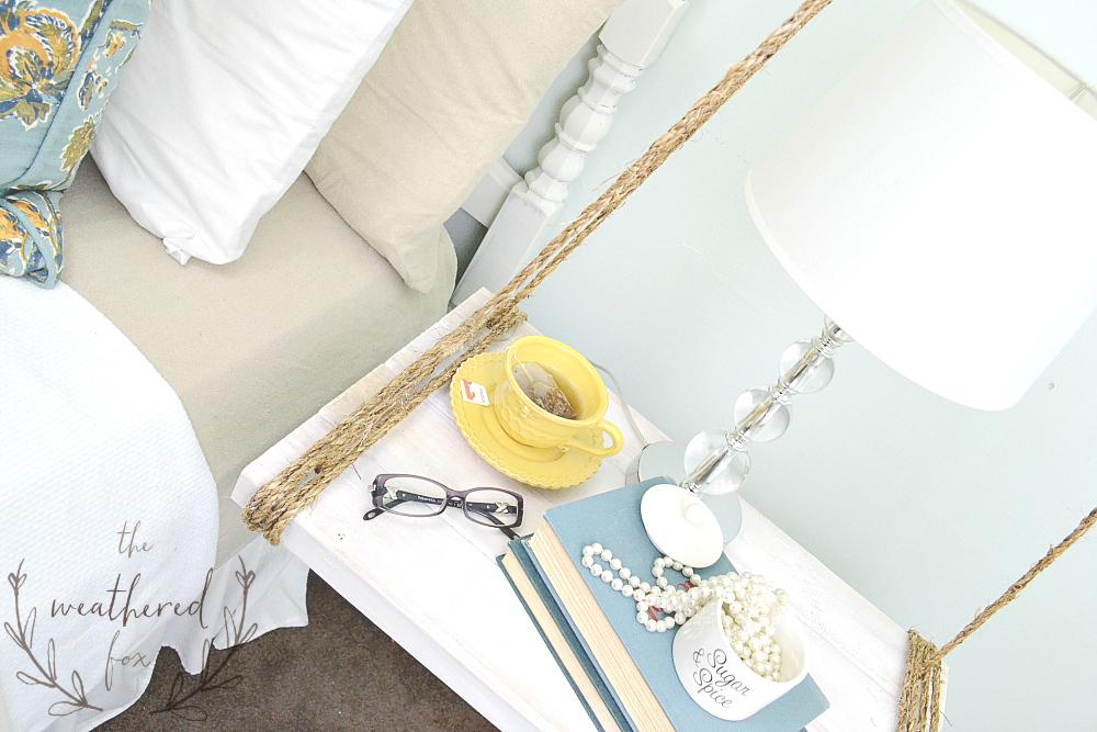 Hanging Nightstand DIY