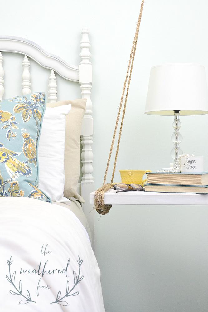 Hanging Nightstand DIY under $10