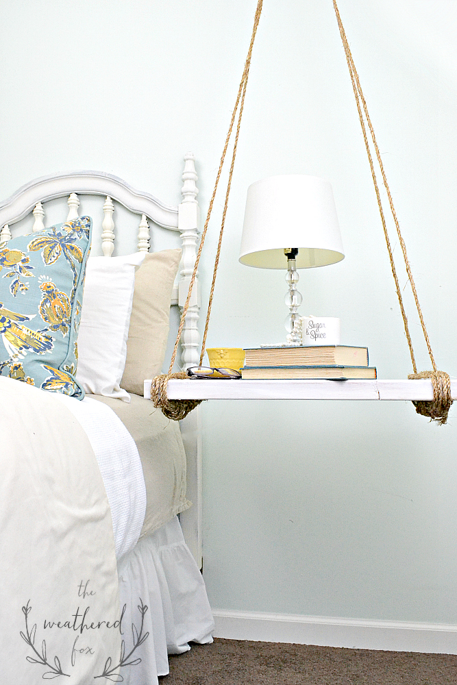 Hanging Nightstand DIY The Weathered Fox