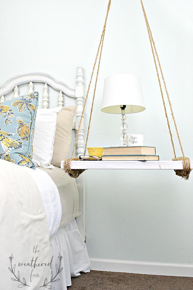 hanging nightstand diy - the weathered fox Diy Night Table