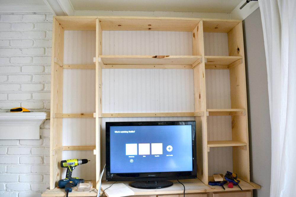 Built In Shelves Adding The