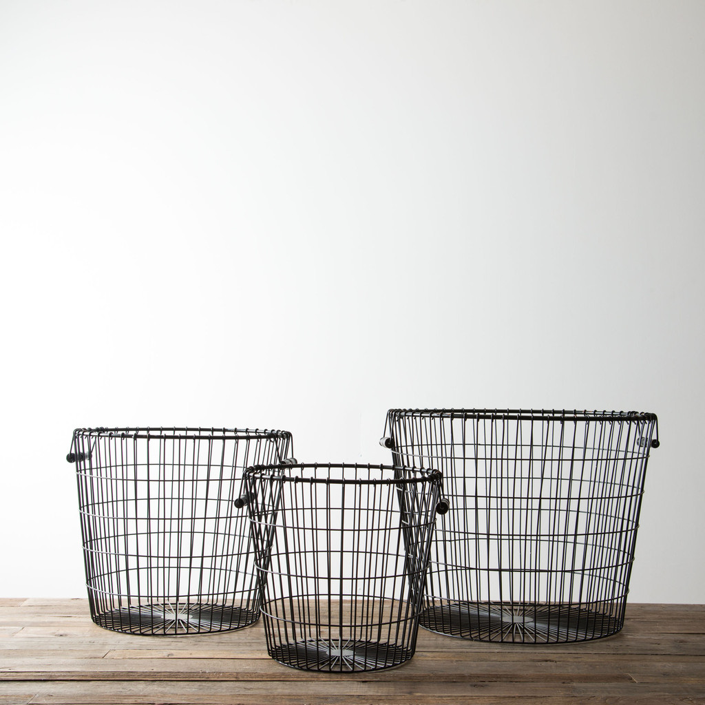 Fixer Upper baby blue house metal baskets