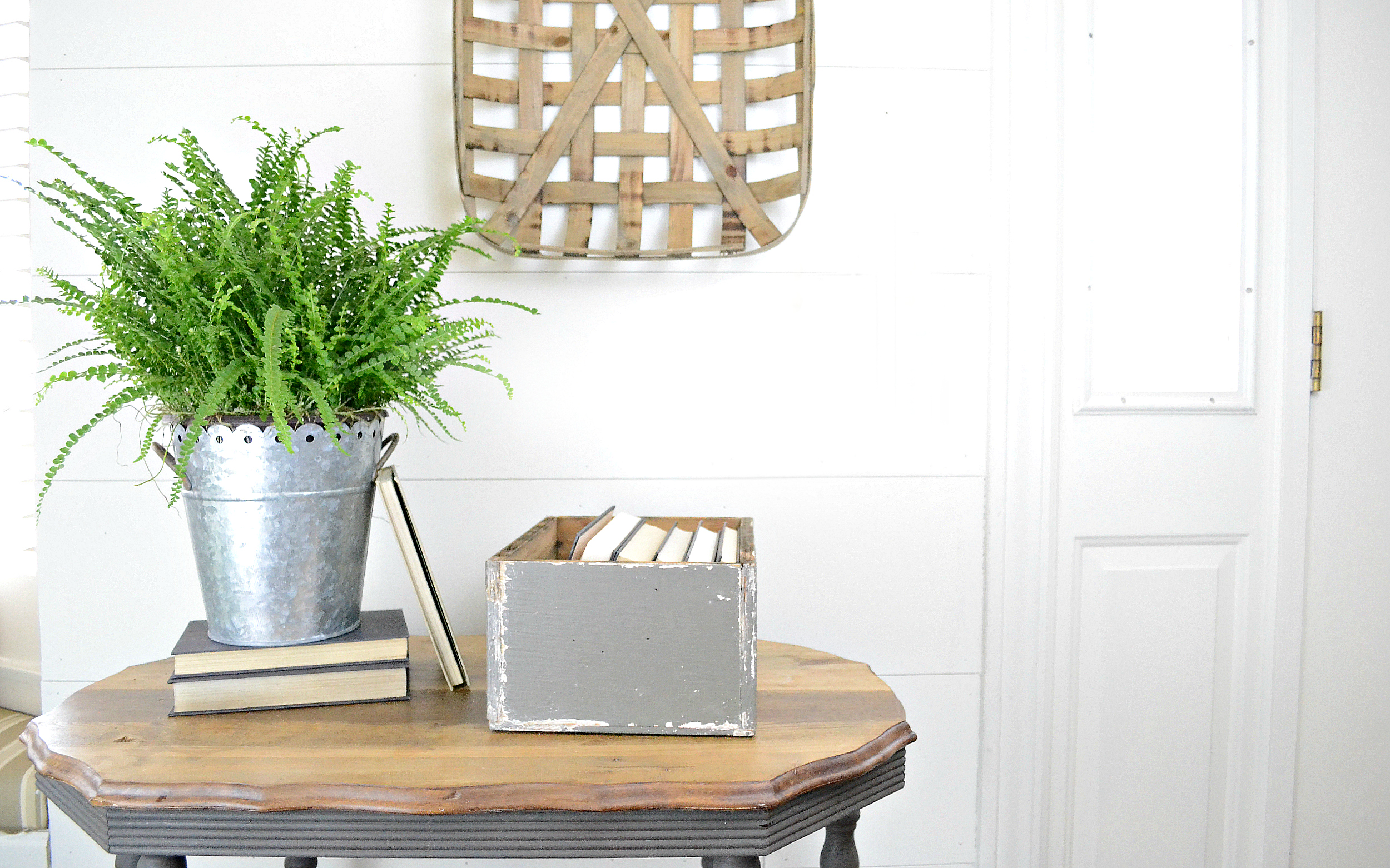 Rummage Redesign Gray Side Table