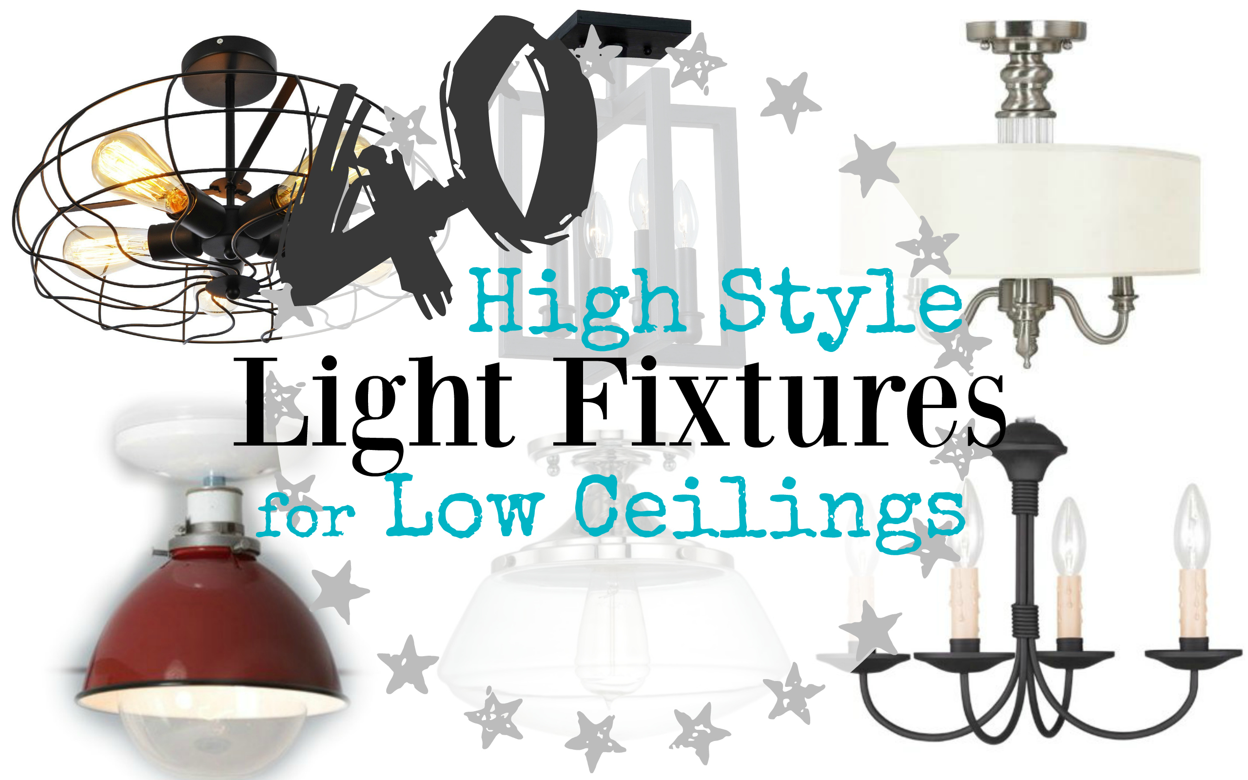 don't have high vaulted ceilings, but still want eye catching lights fixtures Here are 40 semi flush light fixtures that are perfect for low ceilings