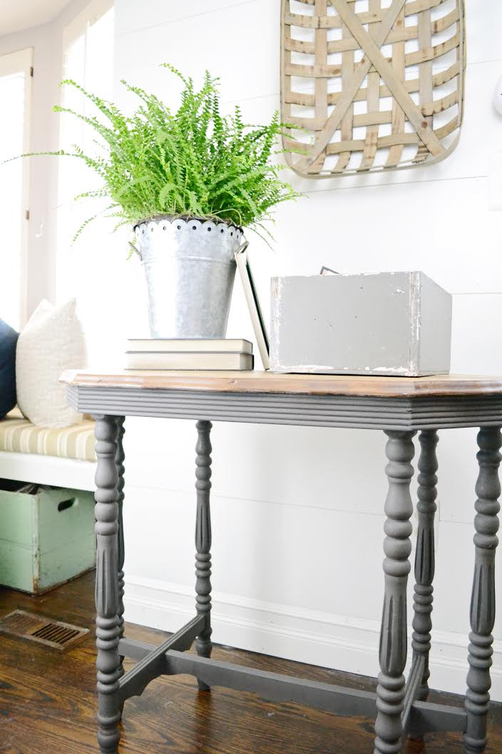 gray side table makeover