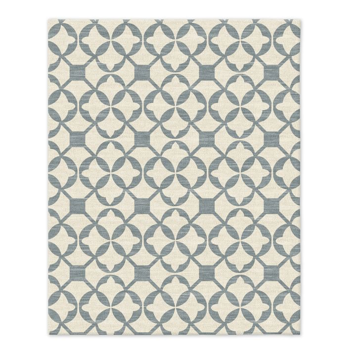 Blue and cream rug