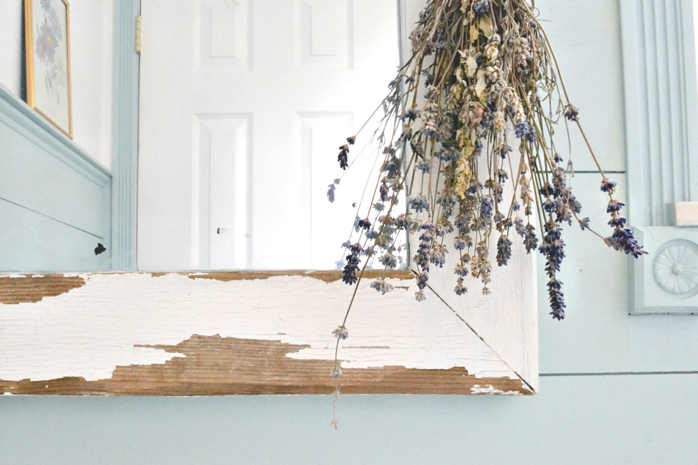 Famhouse Powder Room. Turn a salvaged window into a farmhouse mirror in just a few easy steps! Find it on theweatheredfox.com