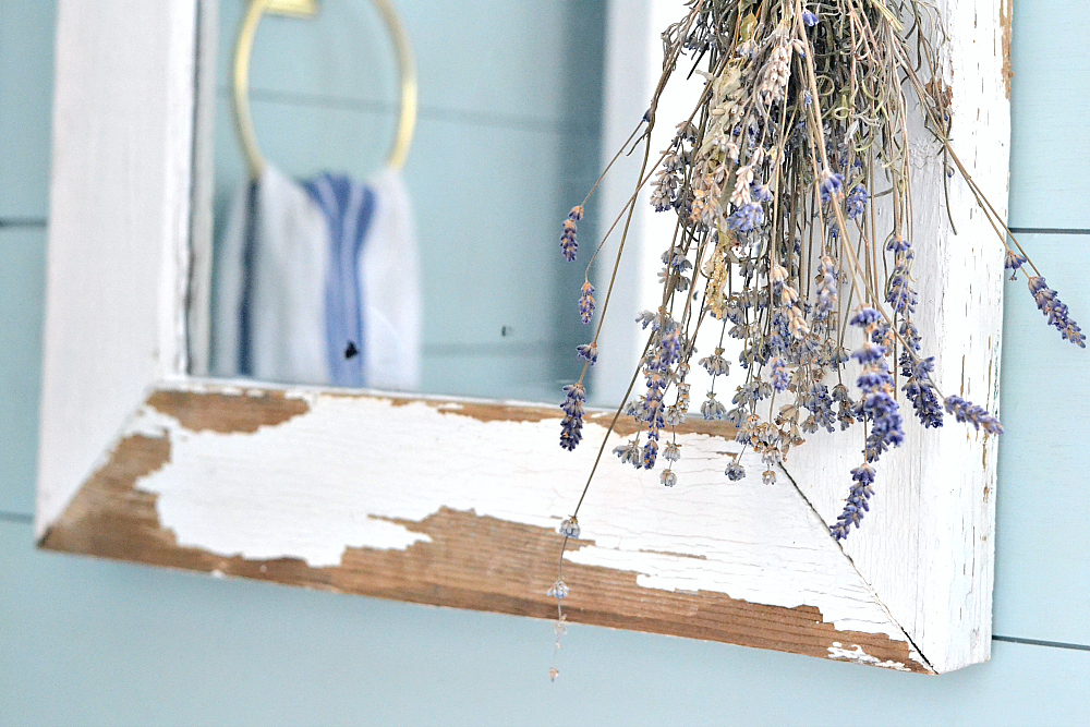 Farmhouse Mirror DIY. Turn a salvaged window into a farmhouse mirror in just a few easy steps! Find it on theweatheredfox.com