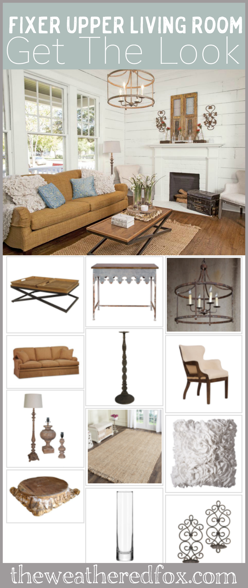 Fixer Upper Living Room Ideas. Get the fixer upper style with this ultimate shopping guide. Shop where Joanna shops!