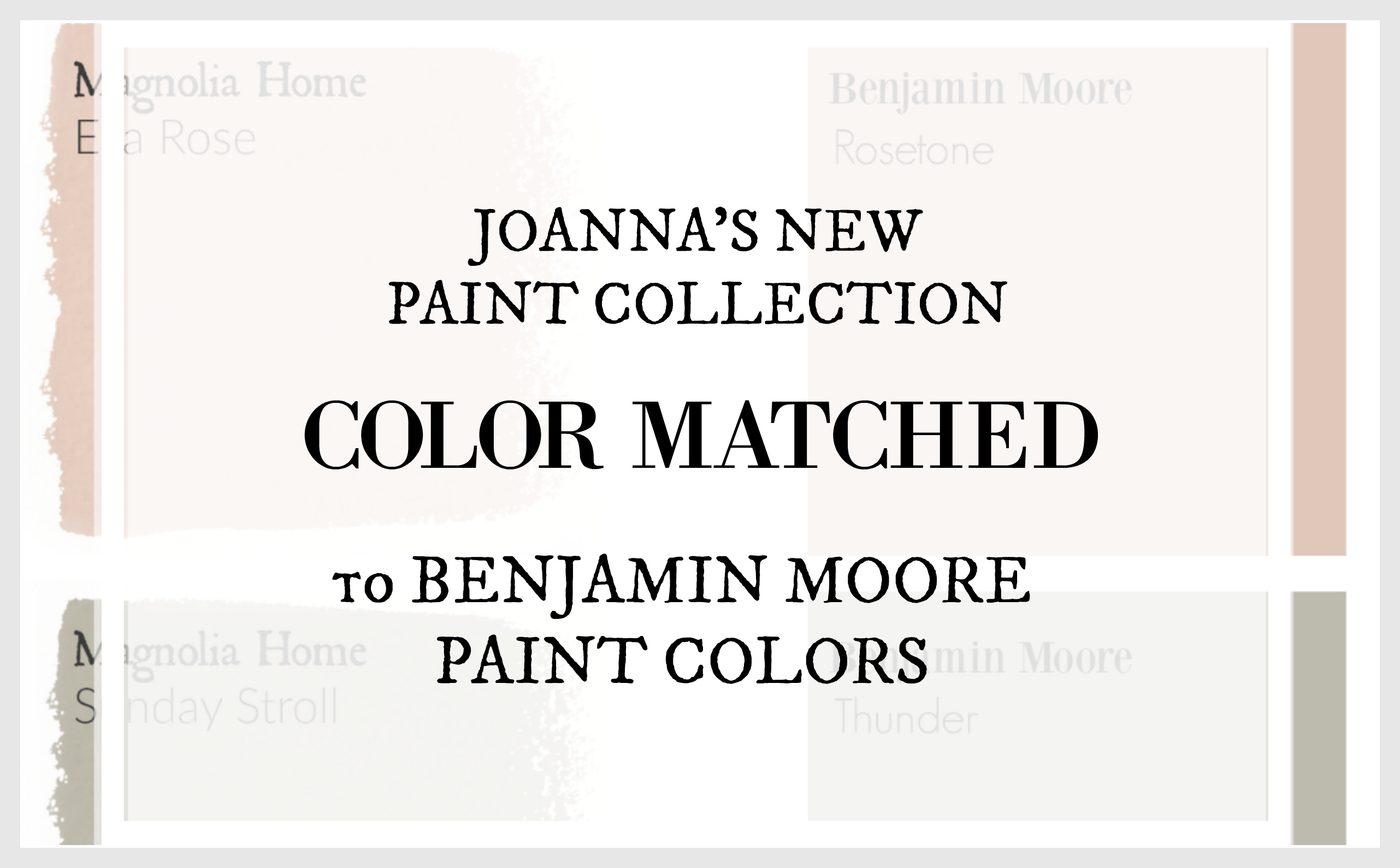 Fixer Upper Paint Colors Matched To Benjamin Moore