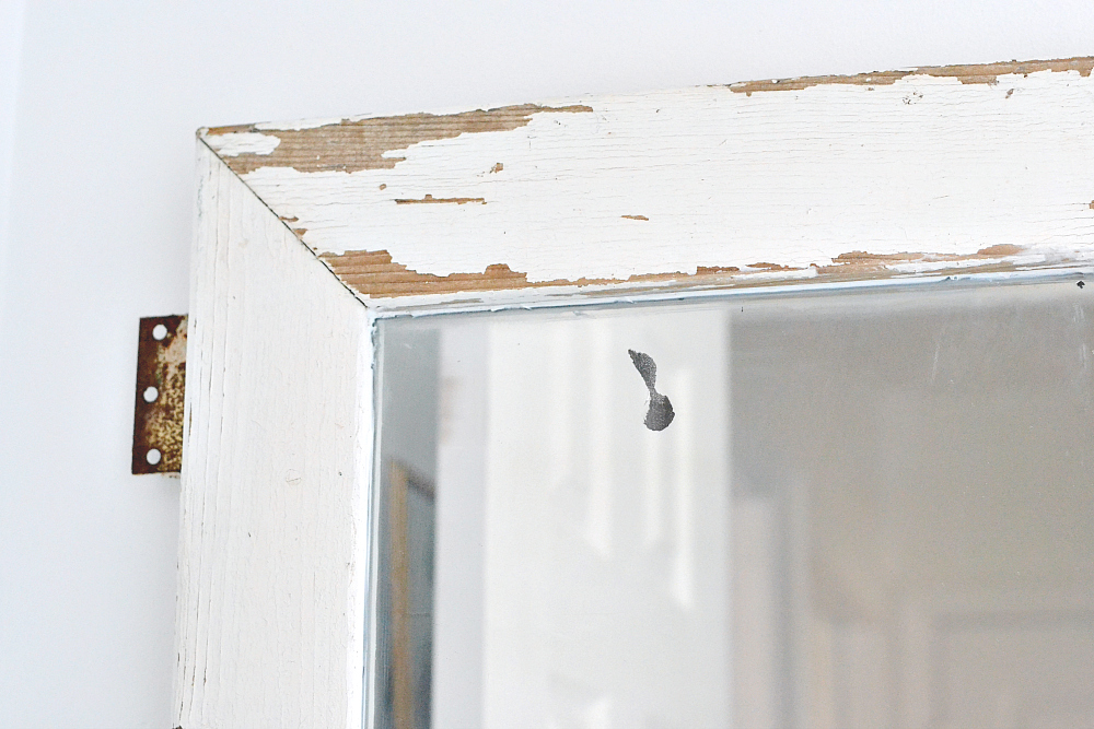 Salvaged window turned mirror. DIY Farmhouse Mirror Tutorial. Turn a salvaged window into a farmhouse mirror in just a few easy steps! Find it on theweatheredfox.com