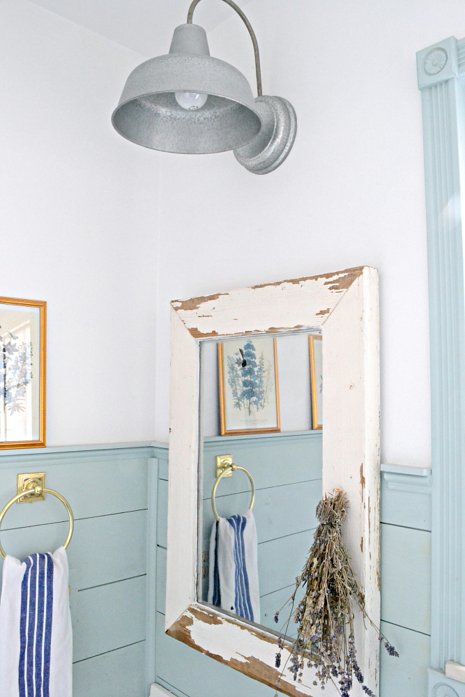 Turn a salvaged window into a farmhouse mirror in just a few easy steps! Find it on theweatheredfox.com