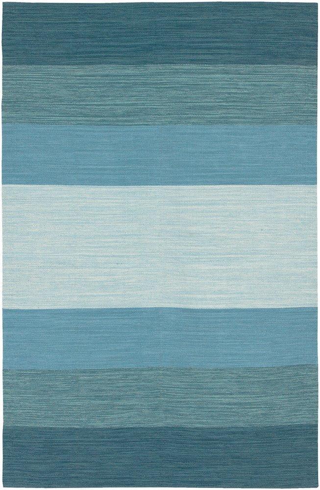 aqua striped rug