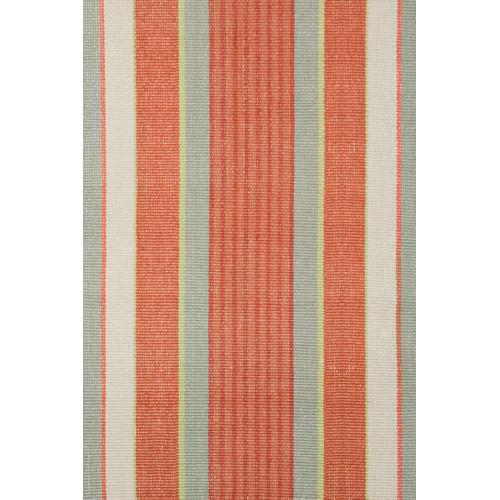orange striped rug