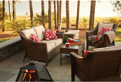 4 piece wicker outdoor furniture set