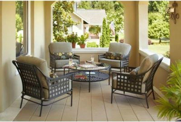 5 piece patio chair set outdoor furniture set