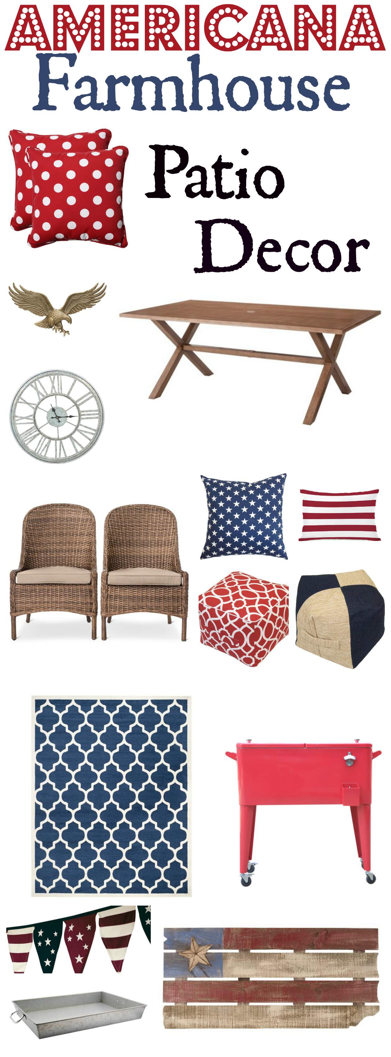 Patriotic Patio Decor Ideas