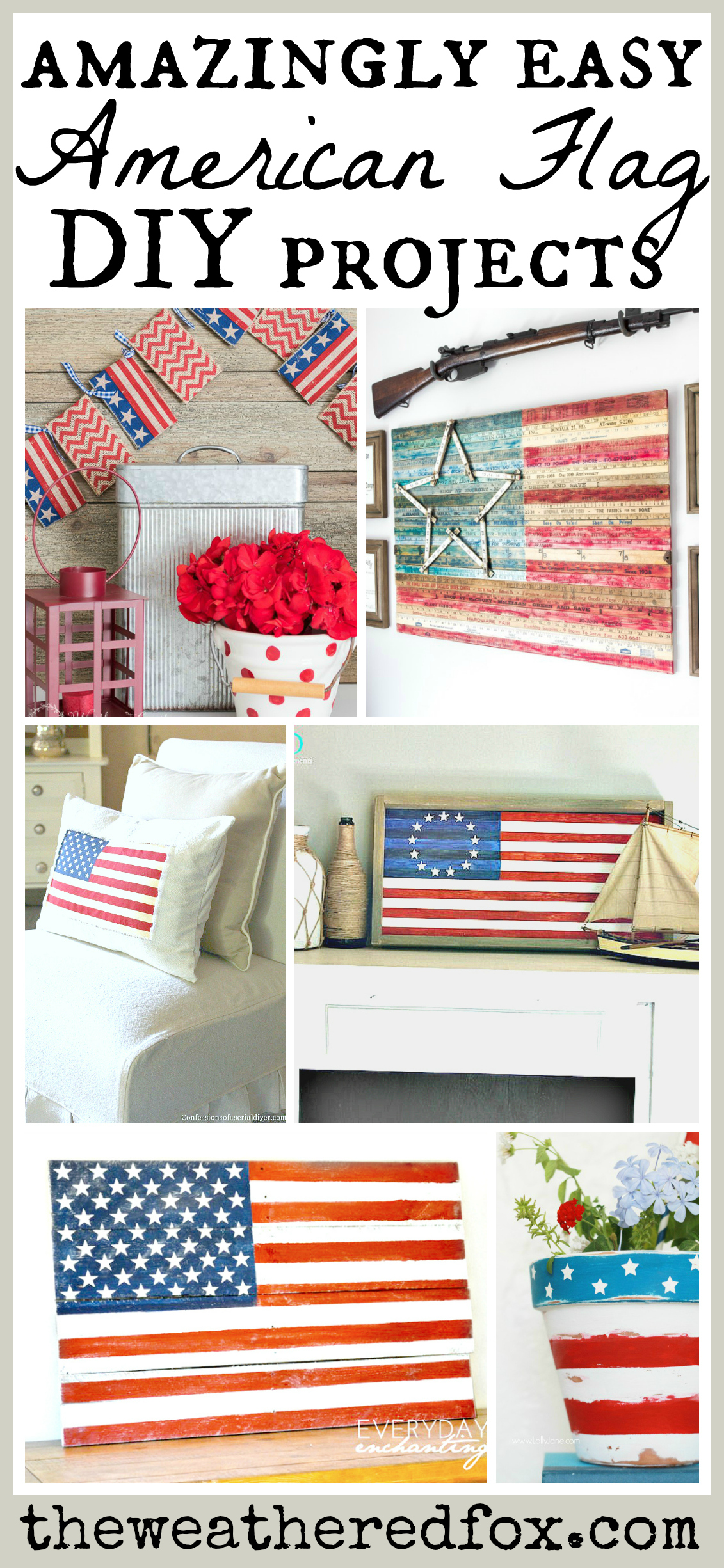 American flag decor ideas the weathered fox for American decoration ideas