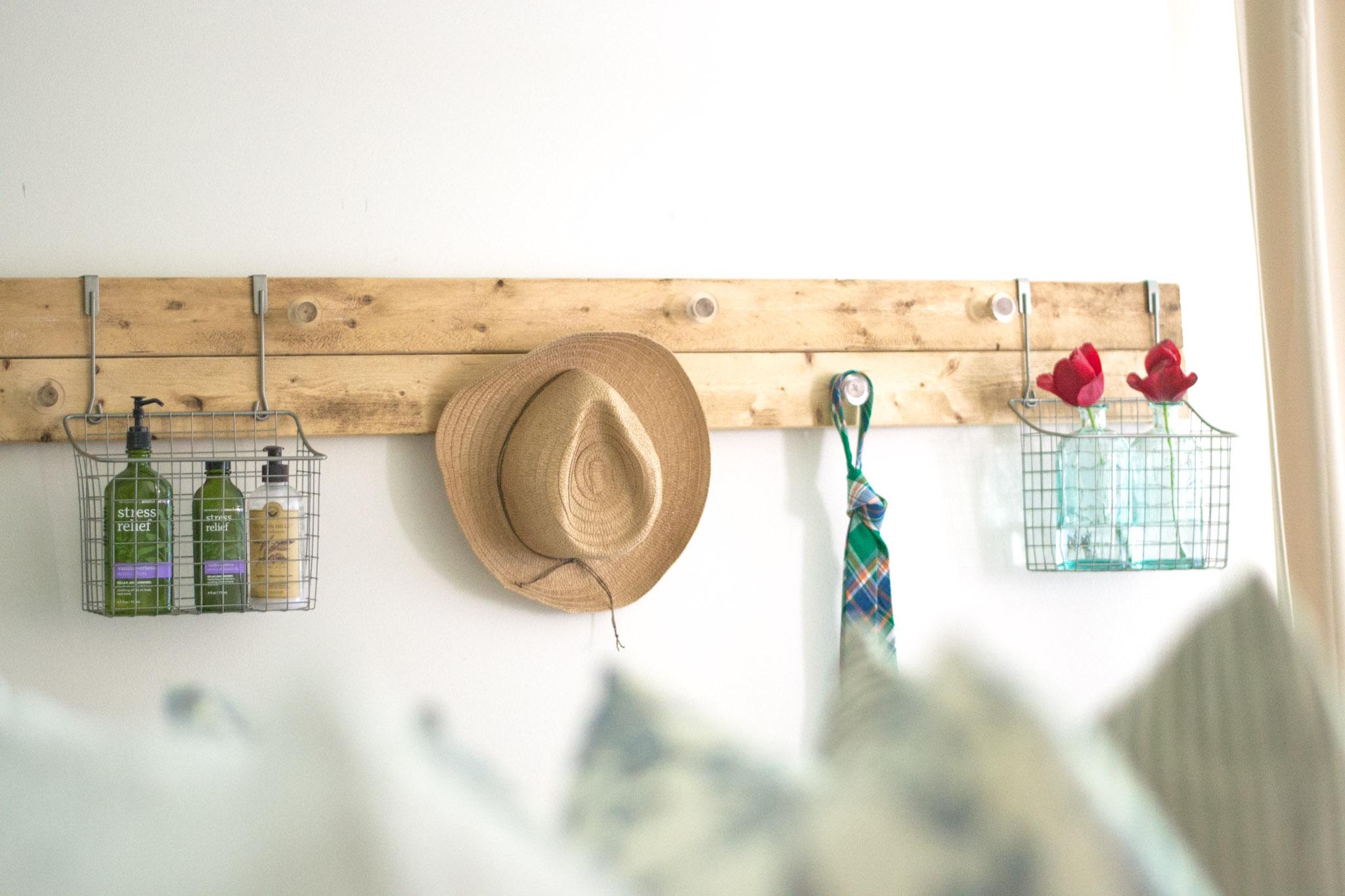 DIY Wall Rack Made From Scrap Wood