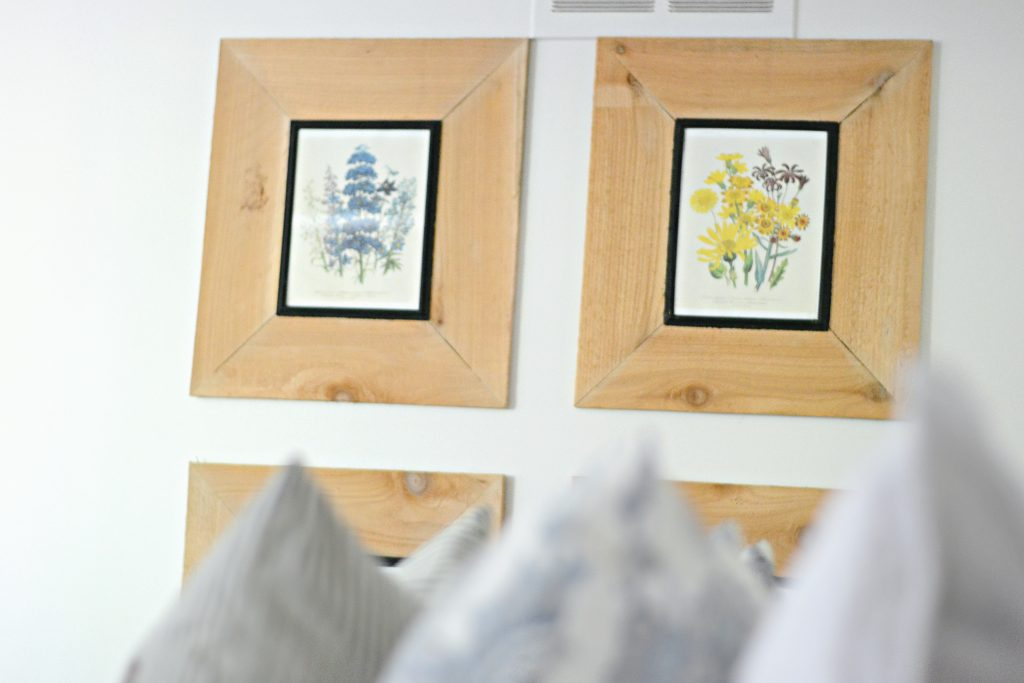 Learn how to make these simple farmhouse frames for under $4