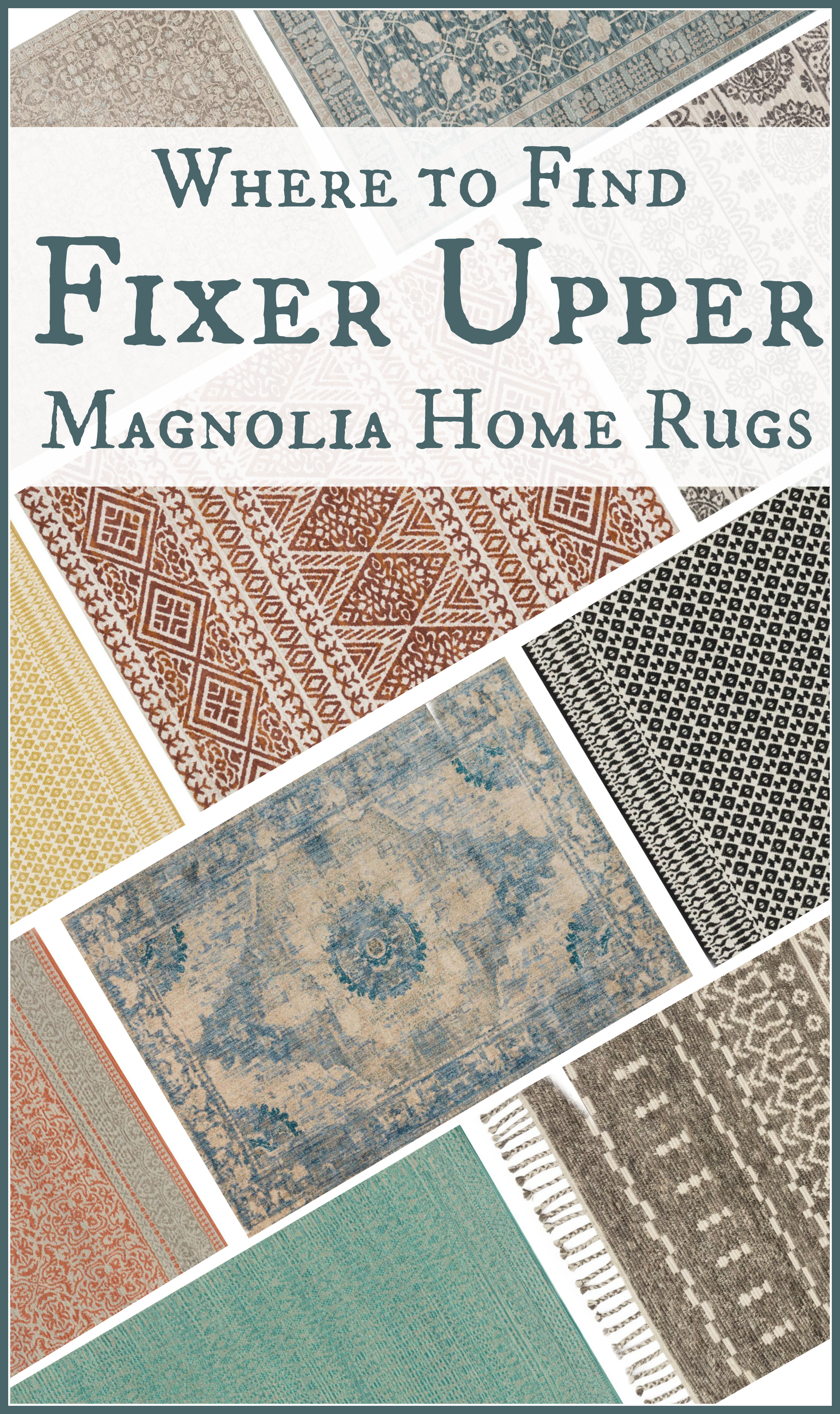 Where to find Fixer Upper Magnolia Home Rugs
