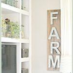 Metal Letter Sign Industrial Farmhouse Decor