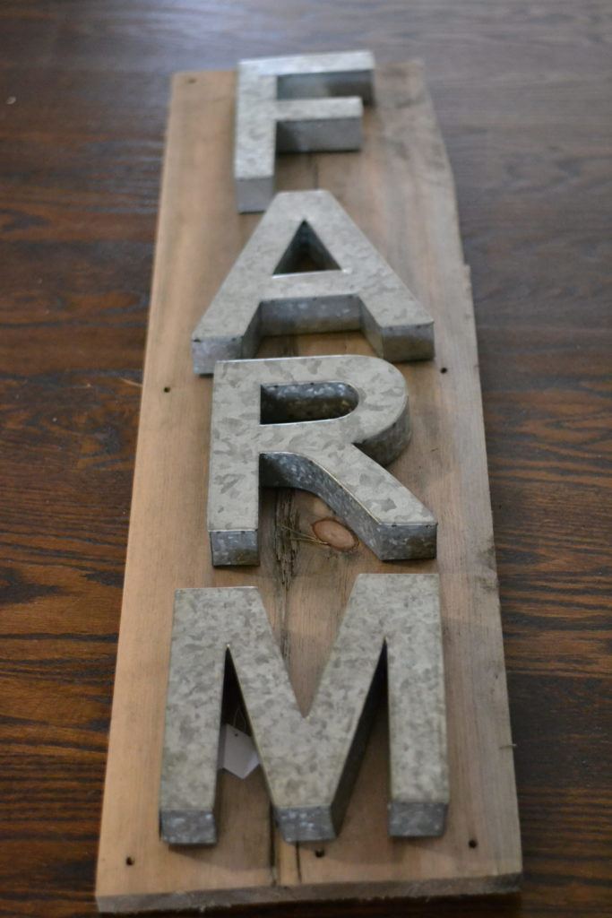 Metal Letter Sign. Easy DIY Industrial Farmhouse sign