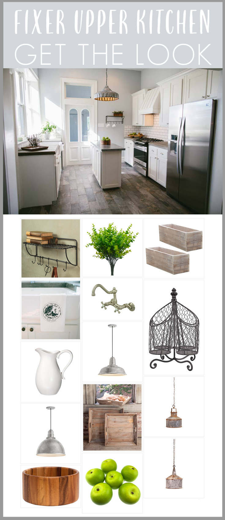 Fixer Upper Season 1 Episode 12 Kitchen room recreation! Full list of decor sources for the 5th Street Story!