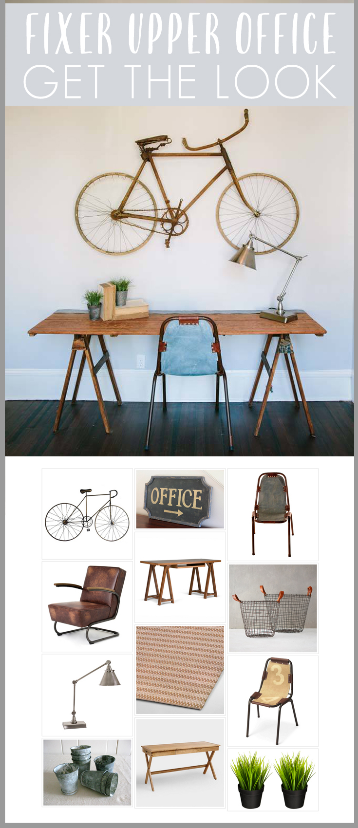 Fixer Upper Season 1 Episode 12 Office room recreation! Full list of decor sources for the 5th Street Story!
