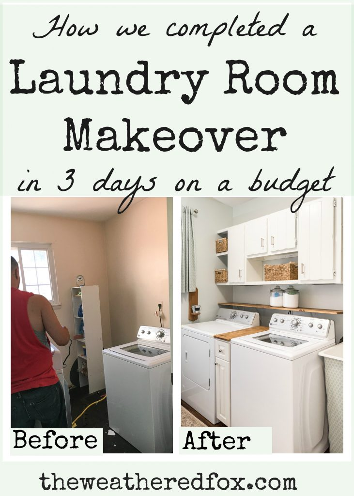 Laundry Room Makeover On A Budget This Is