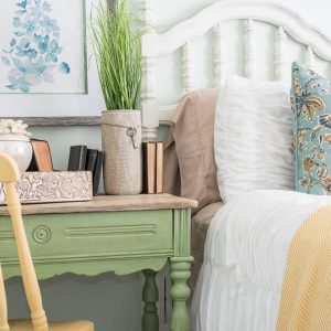 Nature Inspired Bedroom Pallet Molding