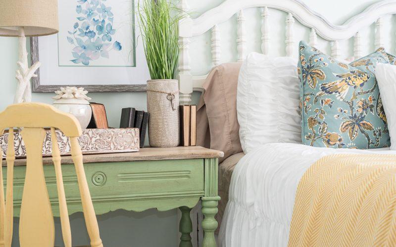 Nature Inspired Bedroom Pallet Molding
