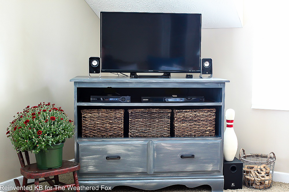 TV Console DIY from Old Dresser Guest Post from Reinvented