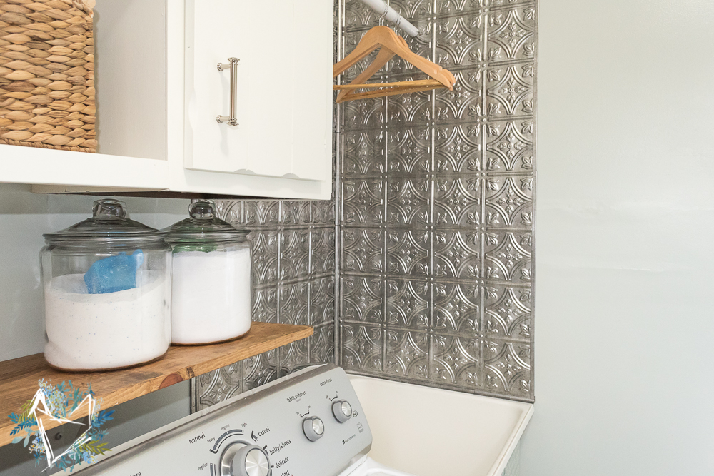 utility-sink-makeover-with-faux-tin-backsplash-14
